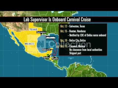 EBOLA: LAB SUPERVISOR ON CRUISE TIMELINE (MAP)