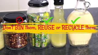 How to remove a label from a jar | Easy way to remove a sticky label from a jar & bottle