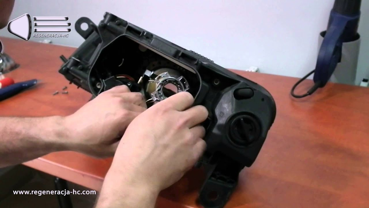 Audi A6 C6 Renovating Headlights How To Disassemble The Lens Wiring Diagram For Led Projector Hid Reflector