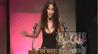 Halle Berry  accepts her RAZZIE® Award