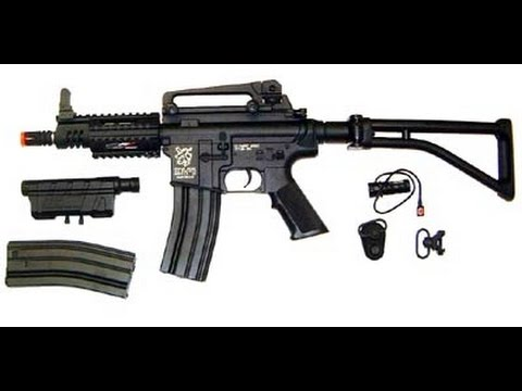 ICS M4-27 CQB Full Metal Airsoft Gun Internal / External Review