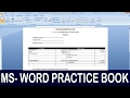 Exercise 08 | Ms Word Practice Book | How To Make Salary Pay Slip Ms Word