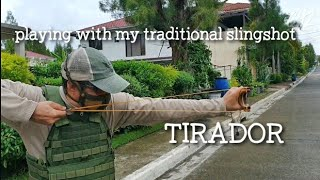 Playing With My Traditional Slingshot | Tirador