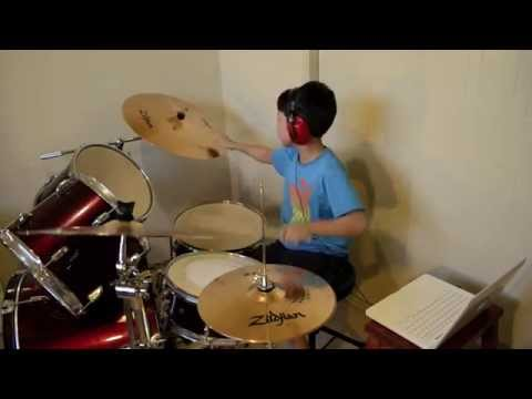 Whistle - Flo Rida - Drum Cover By 10 Year Old Joh Kotoda