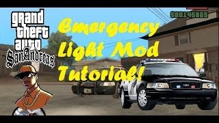 GTA SA Tutorial - How to Install and Use Emergency Light Mod v9.1 (Links are now OUTDATED!)