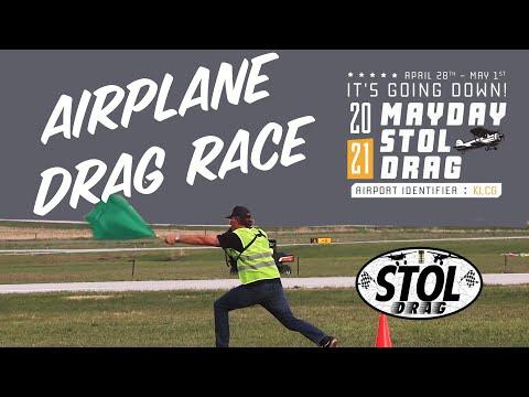 Backcountry Airplane Drag Race -- 2021 Mayday STOL Drag in Wayne, Nebraska
