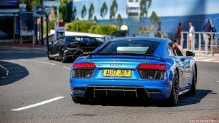 Audi R8 V10 Plus w/ Capristo Exhaust - LOUD Accelerations, Downshifts & Crackles !