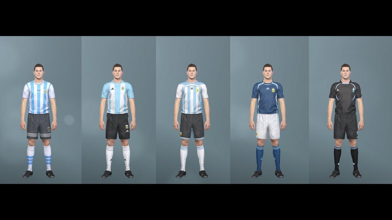 PES 2019 classic Argentina kits (PC, PS4) WC 94, 2002, 2006