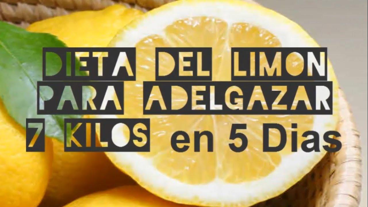 dieta de limon y bicarbonato para adelgazar 7 kilos en 5 dias
