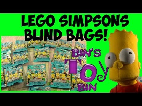 Opening Simpsons Lego Minifigures Blind Bags Pt 1 With