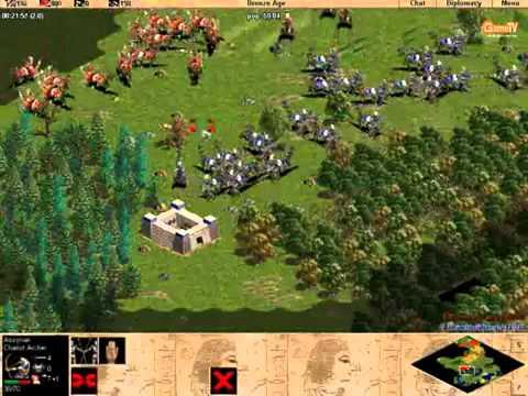 [AOE - Đế chế] ChimSeDiNang vs Khủng long [Solo - Random] Trận 5 - 4/3/2012