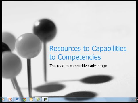 Resources to Capabilities to Competencies