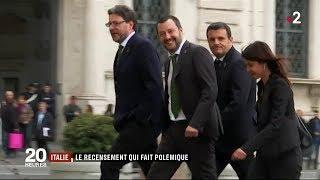 Italie : Le recensement qui fait polémique / JT du mardi 19 juin 2018