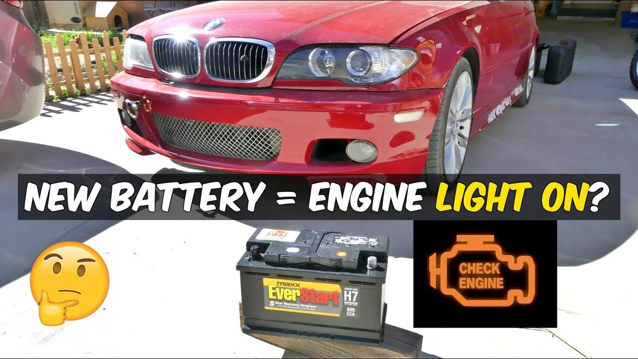 ENGINE LIGHT ON AFTER BATTERY REPLACEMENT