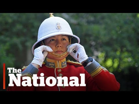 Canadian female officer leads Queen's Guard