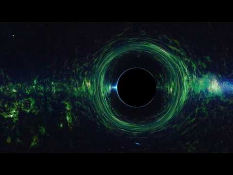 Orbiting Black Holes  in 360° (Infrared background from WISE)