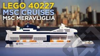 LEGO 40227 - MSC Meraviglia Cruise Ship (2016) - Stop Motion Build