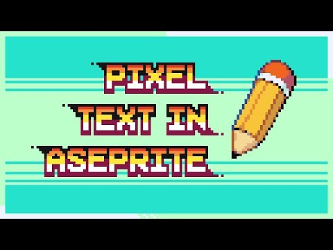 Add PIXEL perfect TEXT in ASEPRITE (Livestream Tutorial) thumbnail