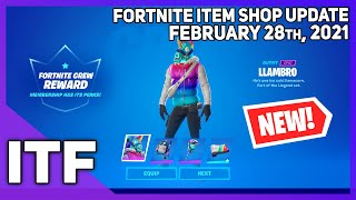 Fortnite Item Shop *NEW* LLAMBRO SET! [February 28th, 2021] (Fortnite Battle Royale)