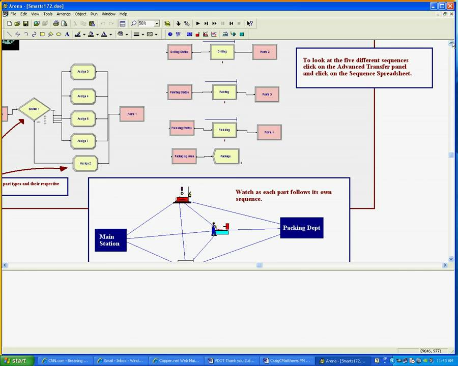 ARENA Simulation Software Demo avi