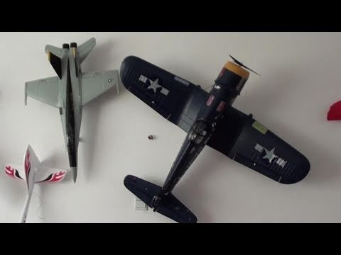How To Mount Rc Planes On Walls Youtube