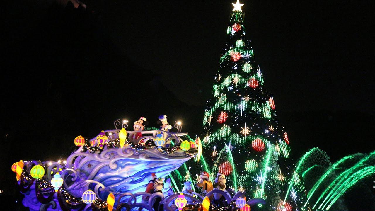 東京ディズニーシーのクリスマスイベント!夜の水上ショー「カラー