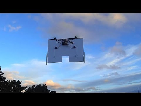 Foamboard VTOL tail-sitter, round 1