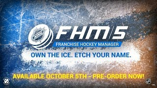 Franchise Hockey Manager 5 - First Gameplay Video - 2018/19 Quebec Nordiques Expansion!