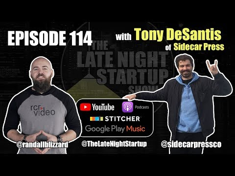 Ep. 114  Carving the Road to Success  Tony DeSantis of Sidecar Press