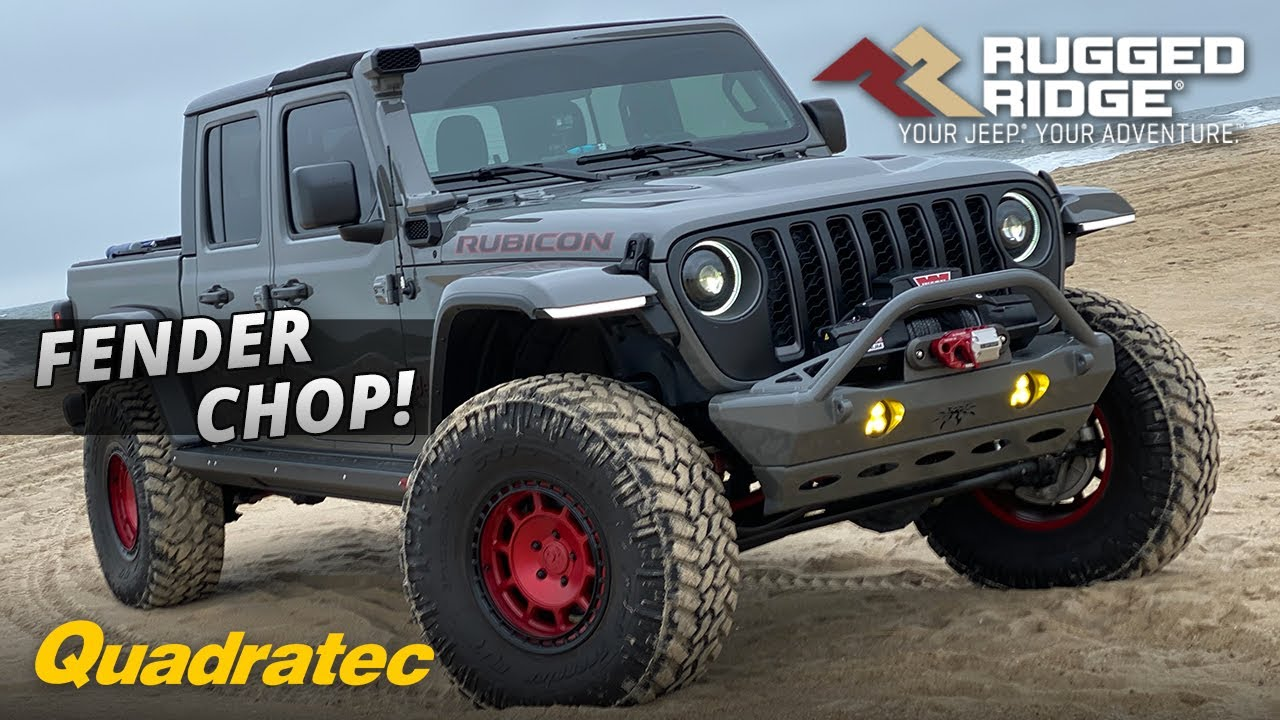 Rugged Ridge Led Drl Rubicon Fender Chop For Jeep Wrangler Jl Jeep Gladiator Jt Gets Installed Youtube