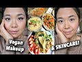 What I Ate in a Day (NUTRIENT DENSE VEGAN!) + Skincare/Makeup Routine