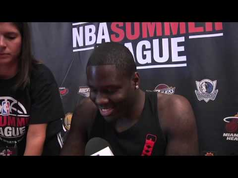 Anthony Bennett Of The Cleveland Cavaliers Is Interviewed At The NBA Summer League