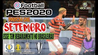 PATCH E-FOOTBALL PES 2020 XBOX 360 - EDIÇÃO DE SETEMBRO