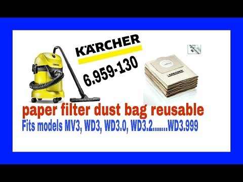 How to Make paper filter bags of vaccum cleaners reusable- karcher with full details
