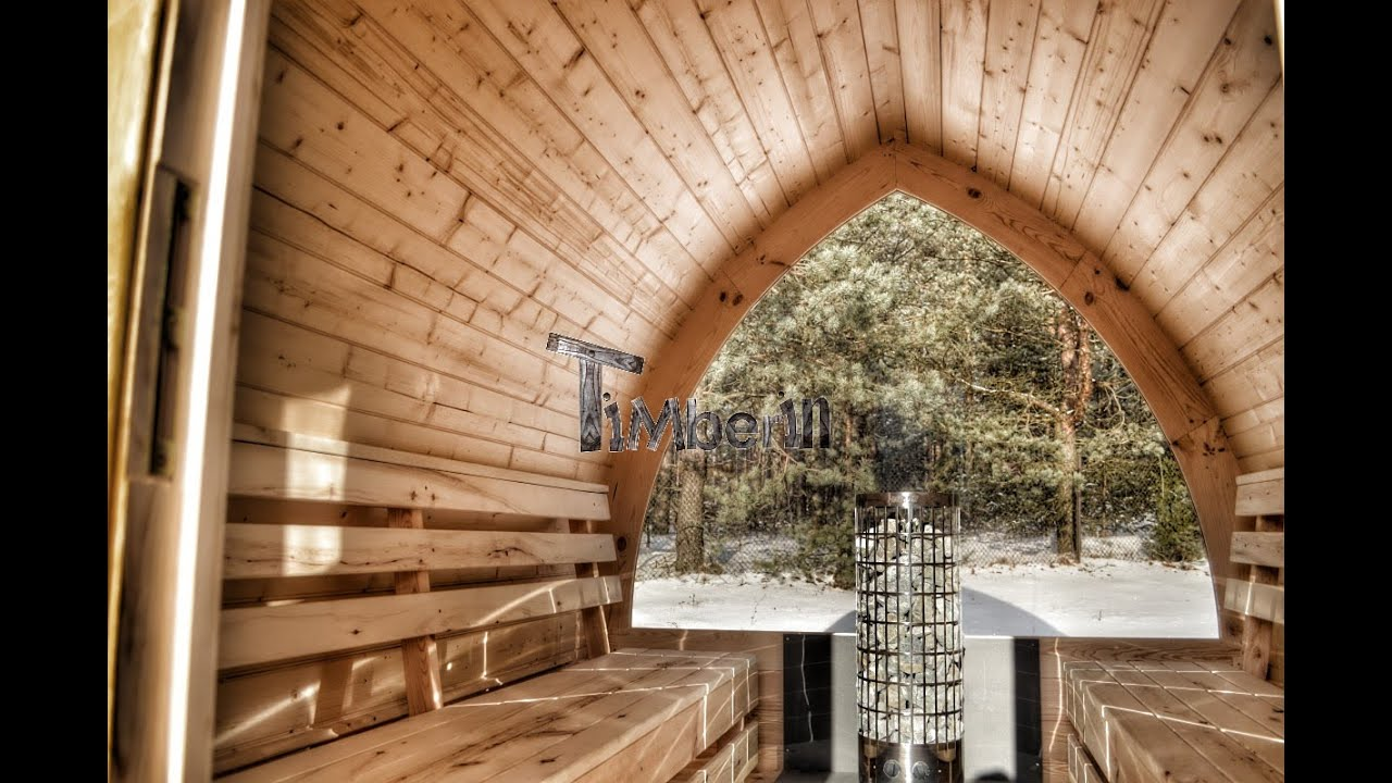 Saune da giardino in legno esterna in vendita - TimberIN - YouTube