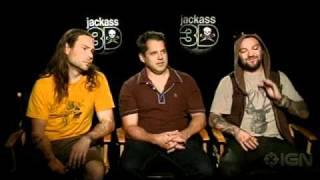 Jackass 3D Interview - Bam Margera Chris Pontius & Jeff Tremaine