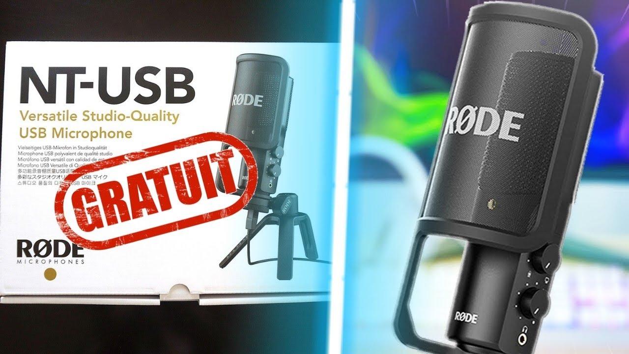 RODE NT-USB : COMMENT L'AVOIR GRATUITEMENT ? (Unboxing/Test)