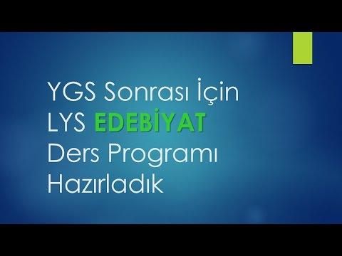 YGS Sonrası İçin | LYS Edebiyat Ders Programı Hazırladık