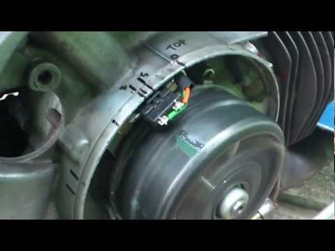 Vespa with DC total loss ignition setting