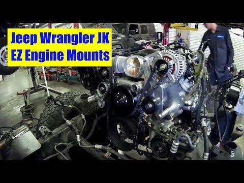 Jeep Wrangler JK V8 EZ Engine Mounts