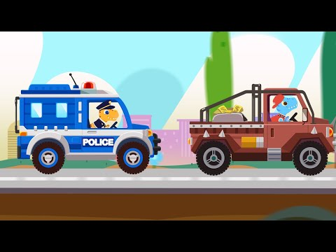 Dinosaur Police Car For Pc - Download For Windows 7,10 and Mac