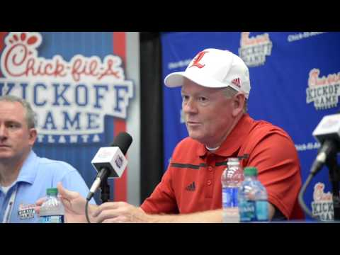 Hear what Louisville's Bobby Petrino had to say after losing to Auburn