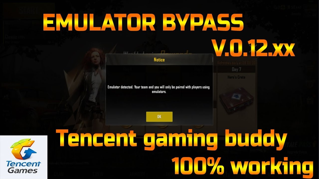 PUBG TGB Emulator detection bypass permanently Updated version 0 12   100%  Working   (Re-Uploaded)