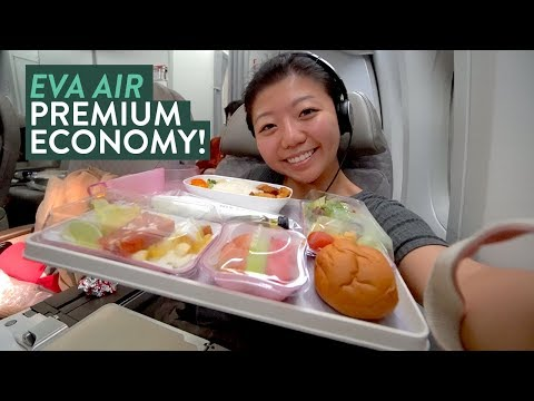 EVA Airline PREMIUM ECONOMY Food Review ✈️ Taipei Taiwan to New York