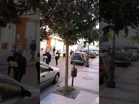 Pedrajas en Valladolid se manifiesta contra el confinamientot