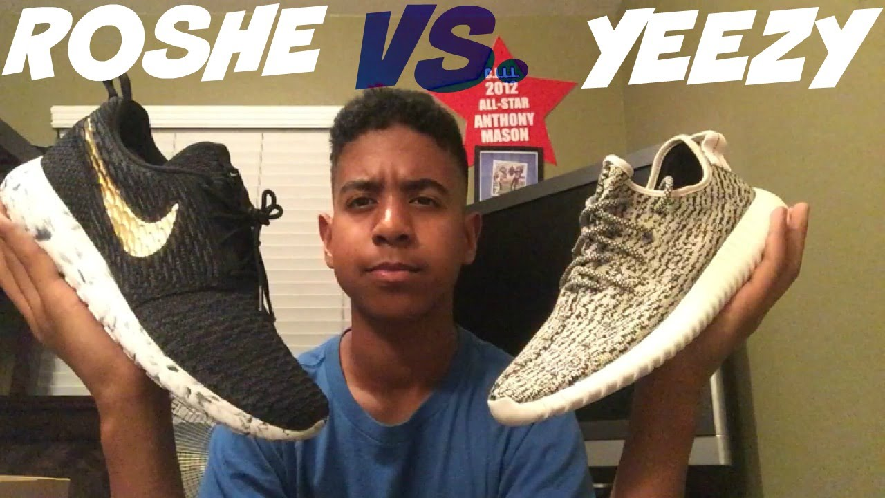 nike roshe run vs adidas yeezy boost