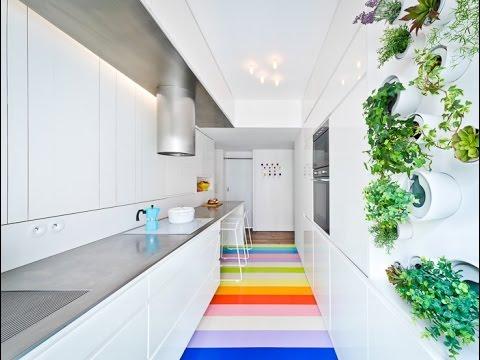 Attractive Long Narrow Kitchen Interior Design Idea