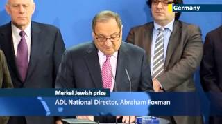 Fighting Anti-Semitism: German Chancellor Angela Merkel receives ADL human rights prize