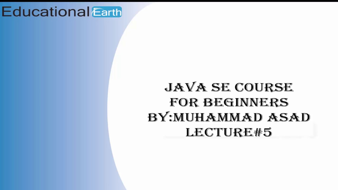 assignments and arithematic instructions java se course lecture assignments and arithematic instructions java se course lecture 5 by asad mughal