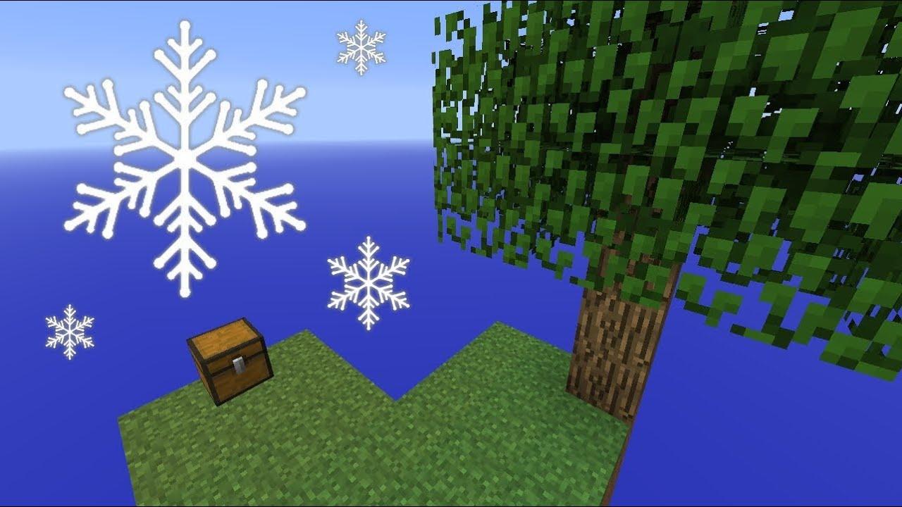 Skyblock Wieder Im SOMMER OHNE Schnee Spielen Minecraft Tutorial - Minecraft skyblock spielen